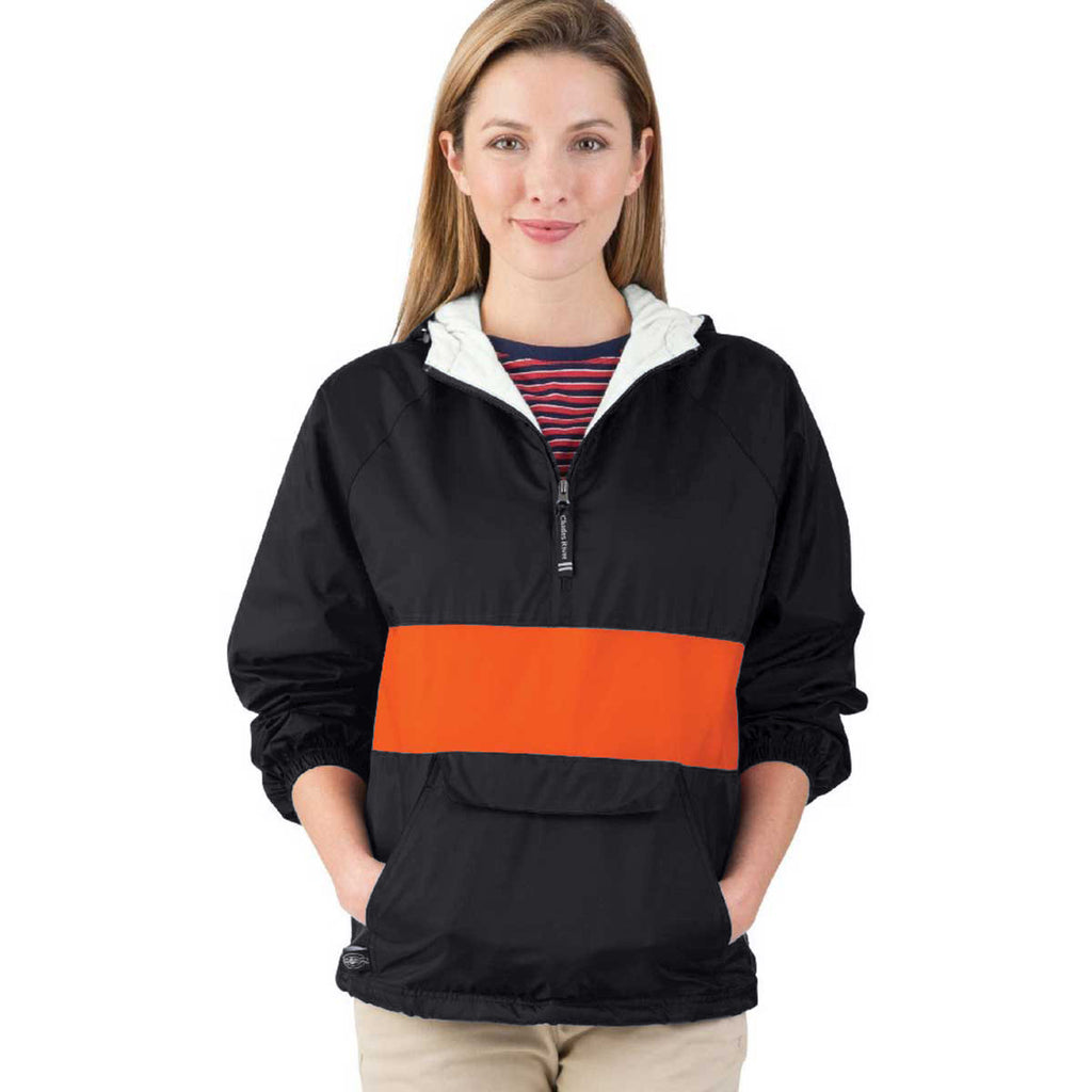 Charles River Unisex Black/Red Classic Charles River Striped Pullover