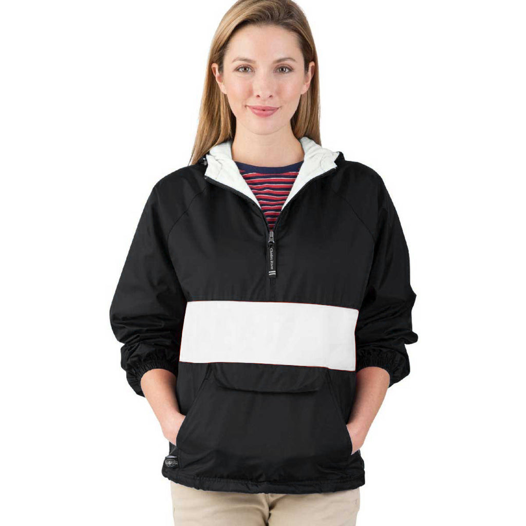 Charles River Unisex Black/White Classic Charles River Striped Pullover