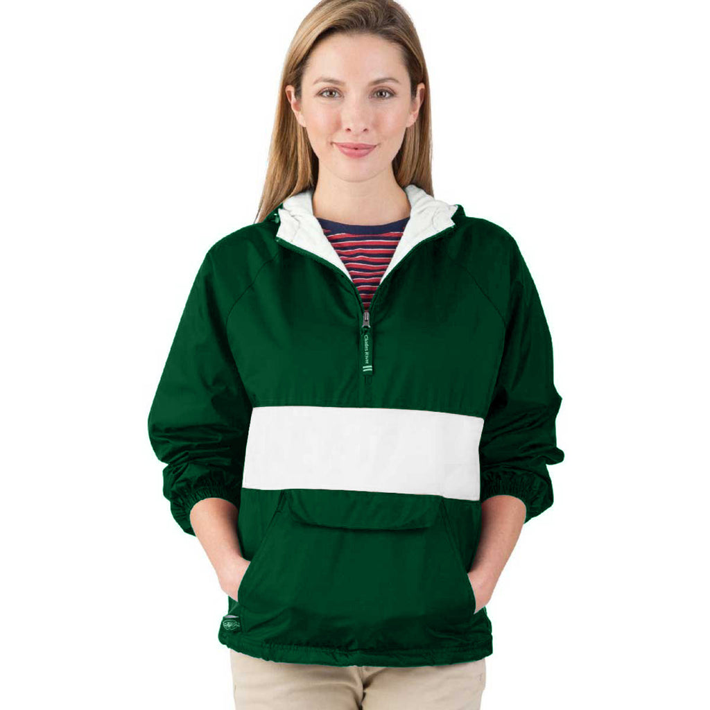 Charles River Unisex Forest/White Classic Charles River Striped Pullover