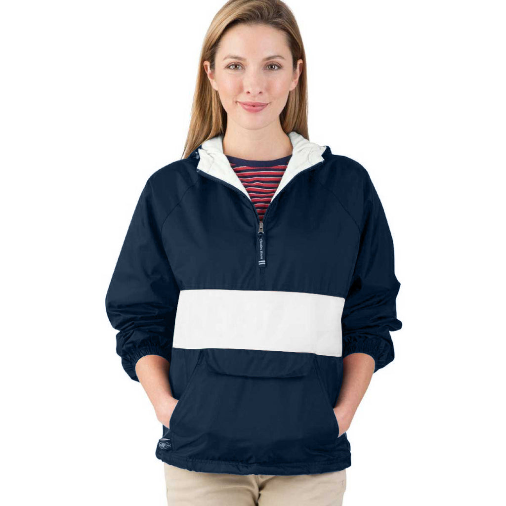 Charles River Unisex Navy/White Classic Charles River Striped Pullover