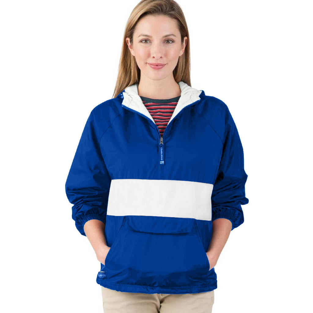 Charles River Unisex Royal/White Classic Charles River Striped Pullover