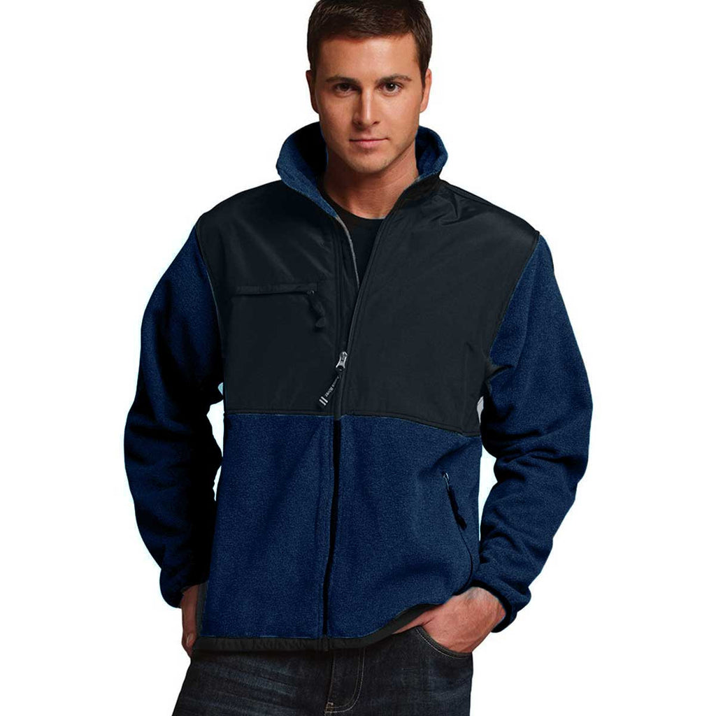 Charles River Men's Navy/Black Evolux Fleece Jacket