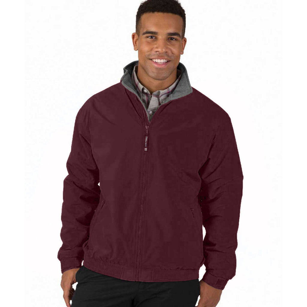 Charles River Men's Maroon Navigator Jacket