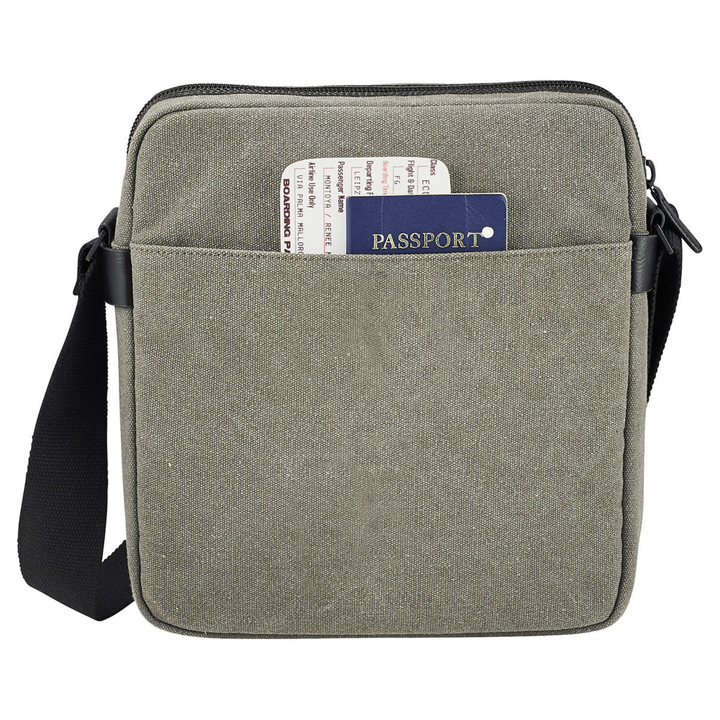 Kenneth Cole Canvas Gray/Black  Tablet Messenger