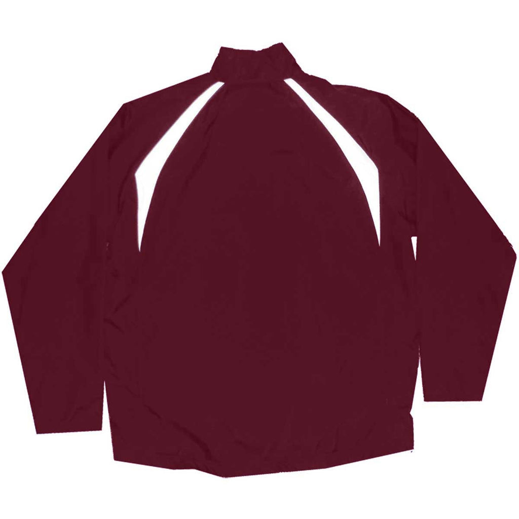 Charles River Men's Maroon/White Teampro Jacket