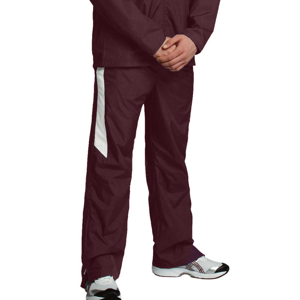 Charles River Men's Maroon/White Teampro Pant