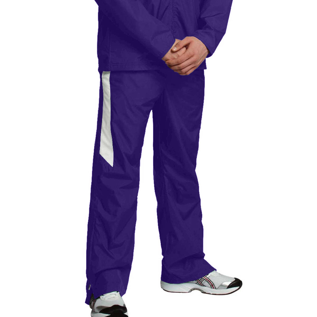 Charles River Men's Purple/White Teampro Pant