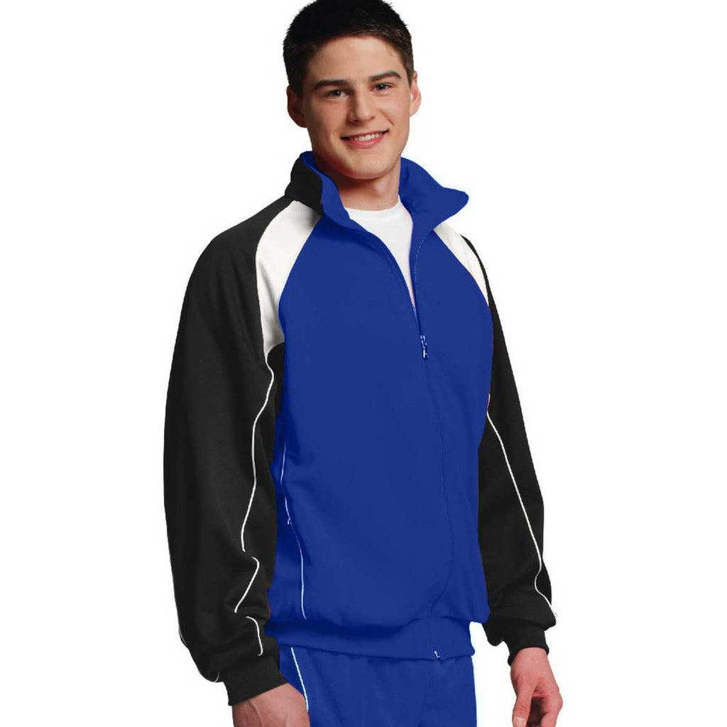 Charles River Men's Royal/White/Black Olympian Jacket
