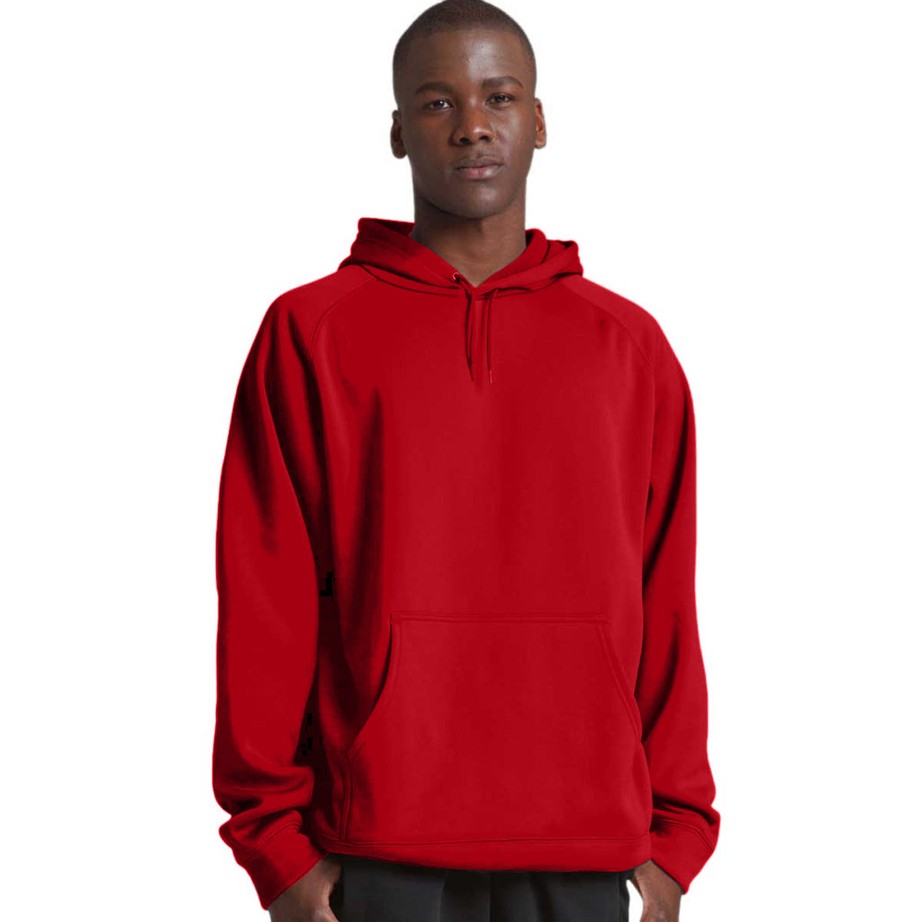 Charles River Men's Red Bonded Polyknit Sweatshirt