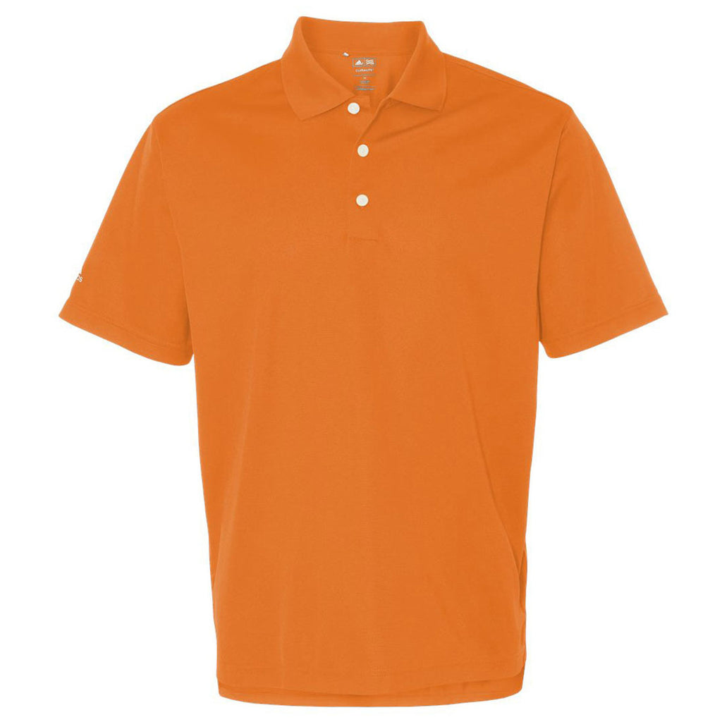 Adidas Golf Mens Bright Orangewhite Climalite Basic Sport Shirt