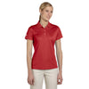 adidas-womens-red-basic-polo