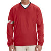 adidas-red-v-neck-wind-shirt