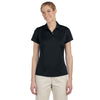 adidas-womens-black-text-polo