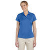 adidas-womens-blue-text-polo