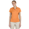 adidas-womens-orange-text-polo