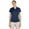adidas-womens-navy-text-polo