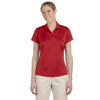 adidas-womens-red-text-polo
