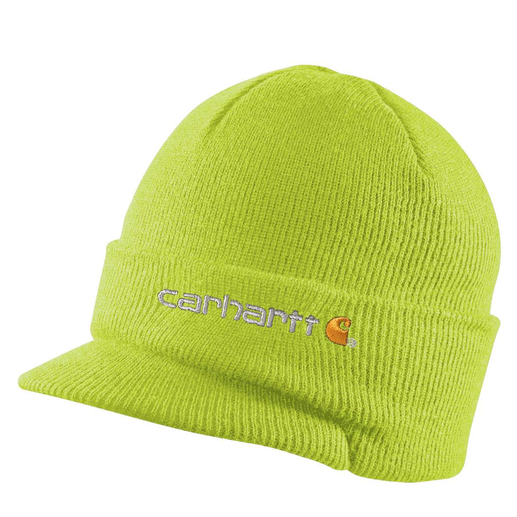 309d826a9a146 Carhartt Men s Brite Lime Knit Hat with Visor