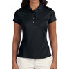 adidas-ladies-black-polo-solid