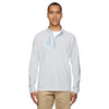adidas-golf-light-grey-mixed-quarter-zip