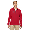 adidas-golf-red-mixed-quarter-zip