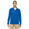 adidas-golf-blue-mixed-quarter-zip