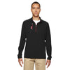 adidas-golf-black-mixed-quarter-zip
