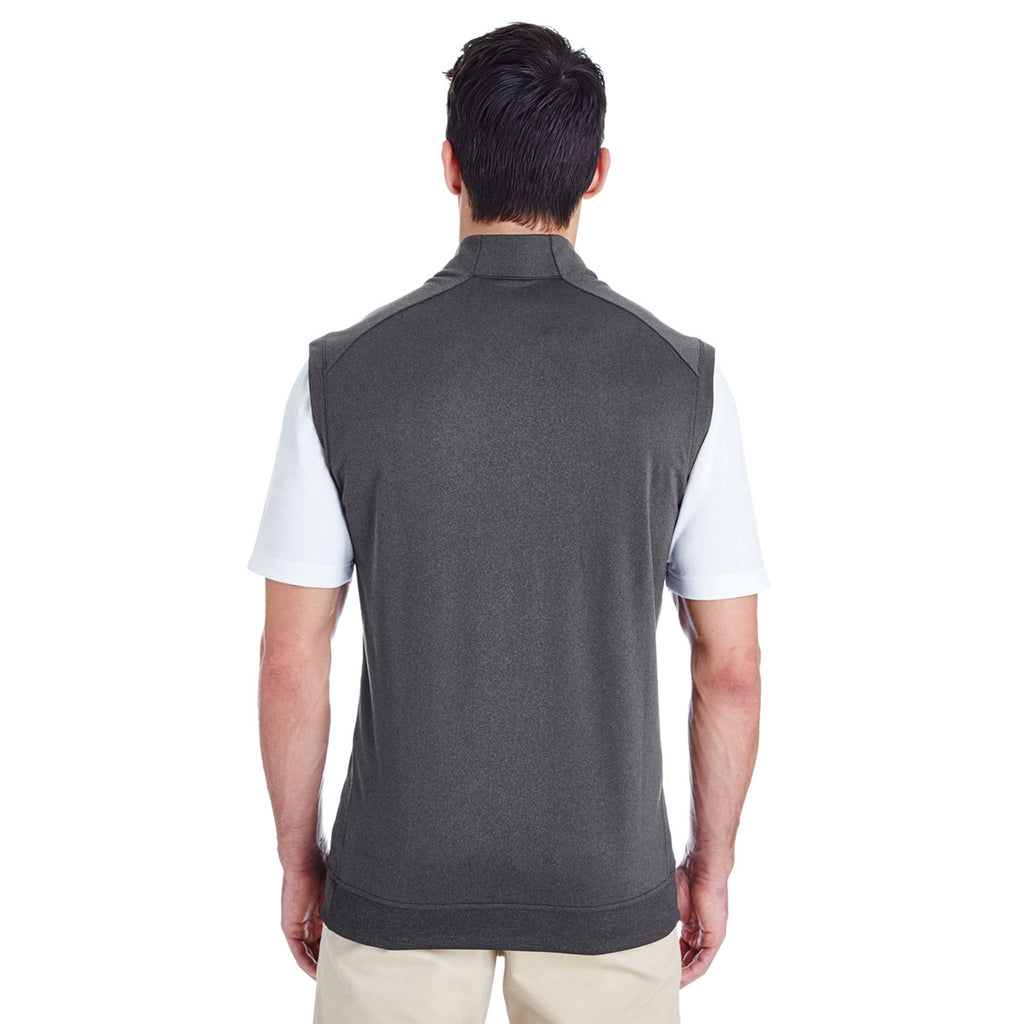 adidas Golf Men's Black Heather Quarter Zip Club Vest