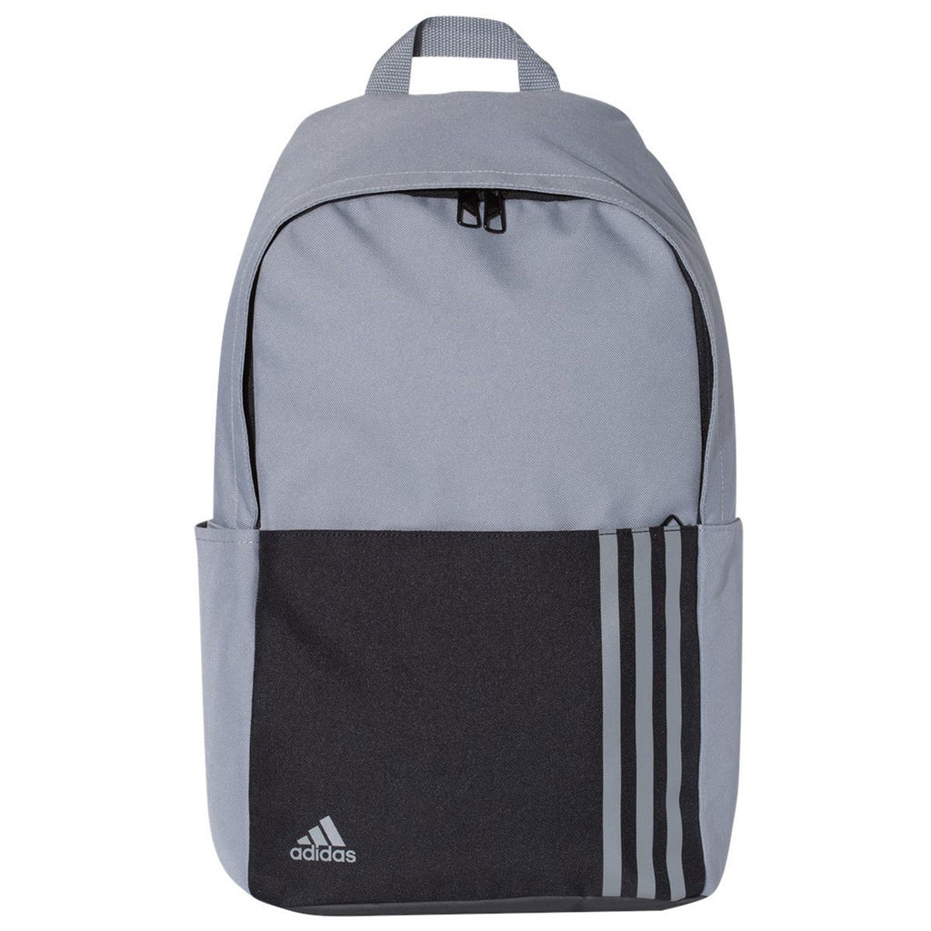 e39d24993 Adidas Golf Grey 18L 3-Stripes Small Backpack. ADD YOUR LOGO