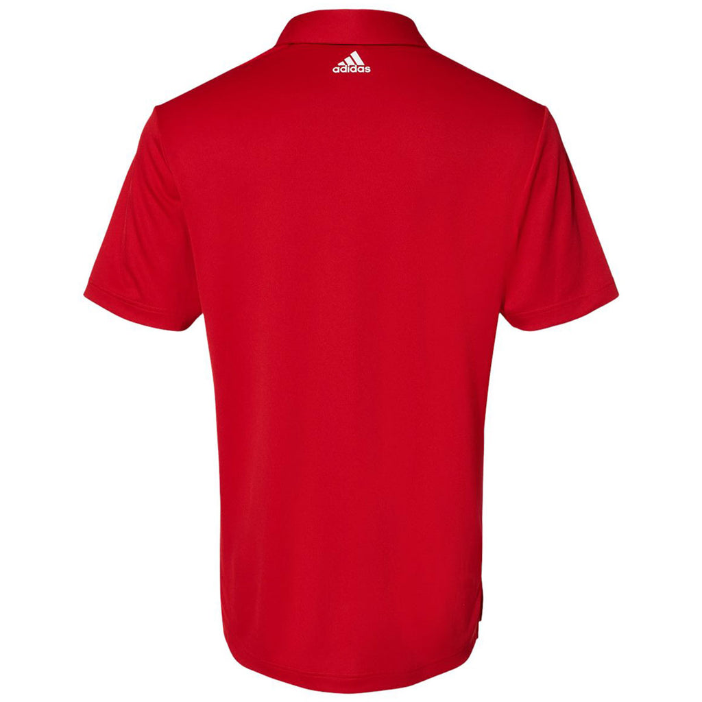 Adidas Men's Team Power Red/White Floating 3-Stripes Sport Shirt