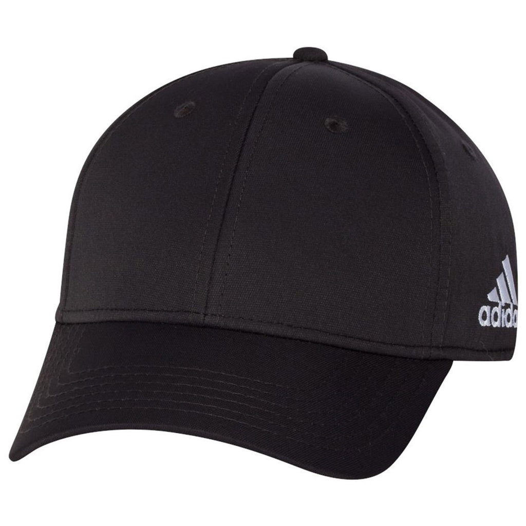 Adidas Golf Black Core Performance max Structured Cap. ADD YOUR LOGO 42757dc828a7