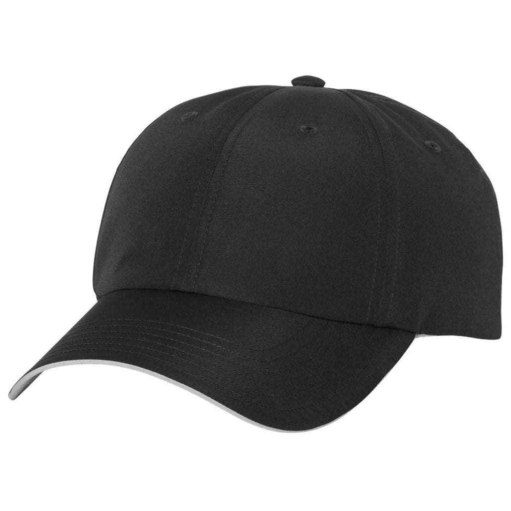 d6e2961591ab5 Adidas Golf Black Performance Relaxed Poly Cap. ADD YOUR LOGO