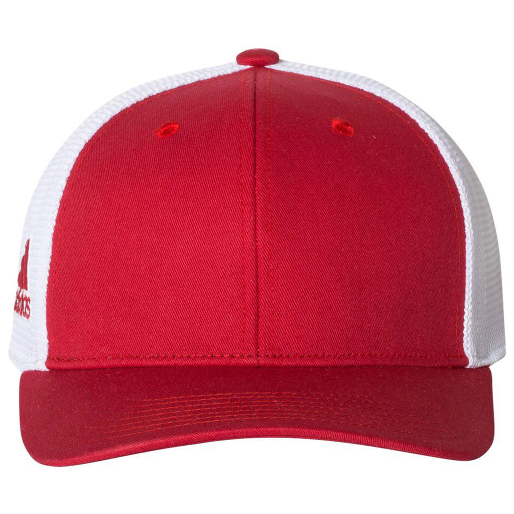Adidas Golf Power Red White Mesh Colorblock Cap aa95a9fc9e9c