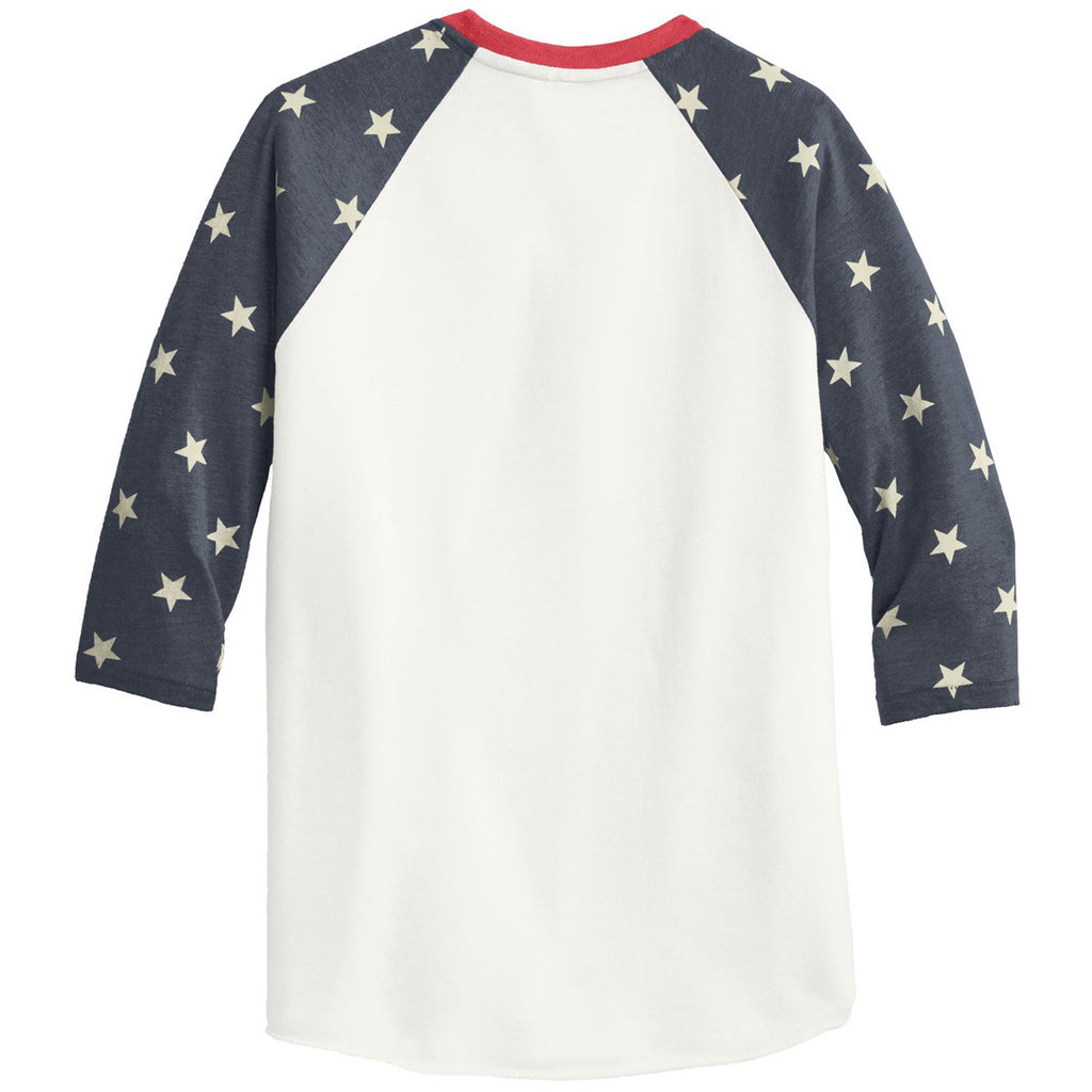 Alternative Men's Eco Stars Eco-Jersey Baseball T-Shirt
