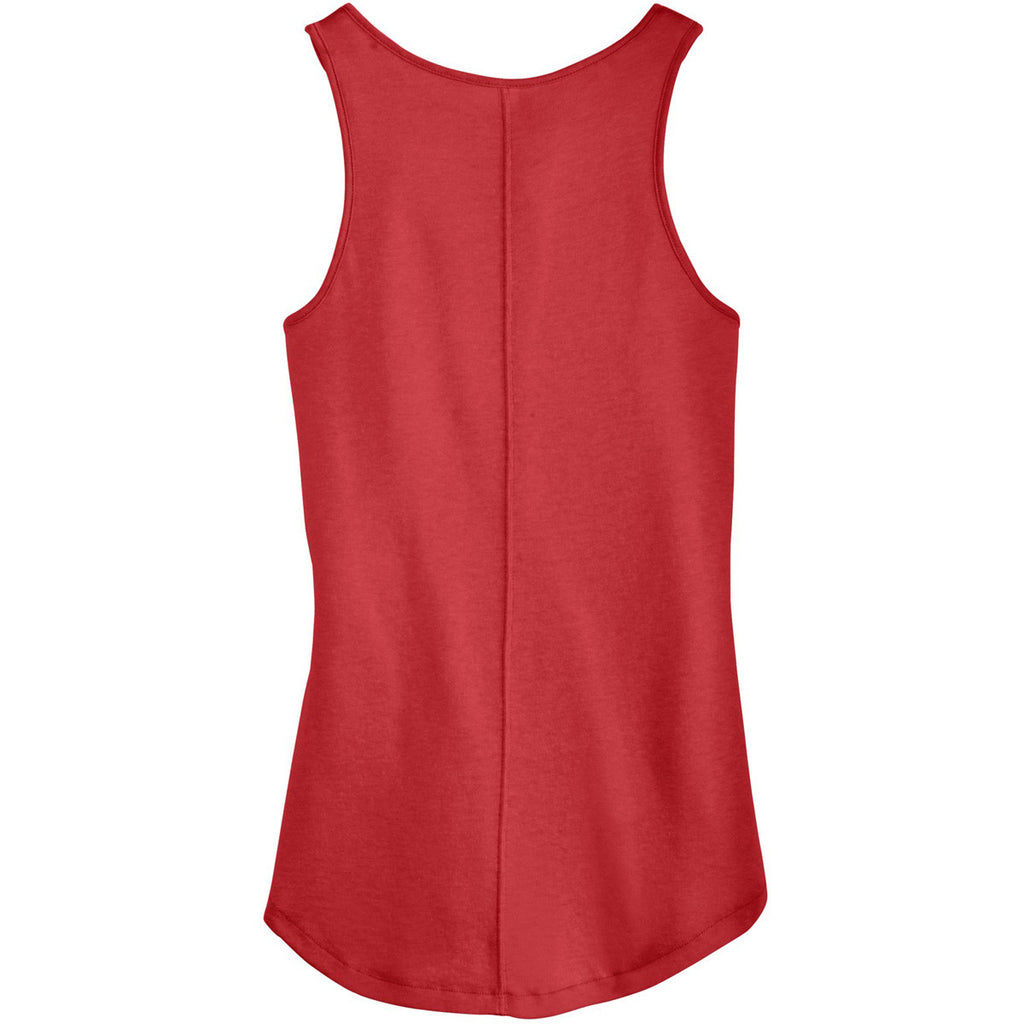 Alternative Women's Red Backstage Vintage 50/50 Tank