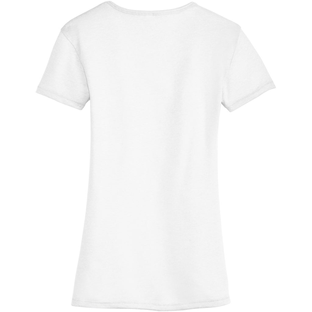 Alternative Women's White The Keepsake V-Neck Vintage 50/50 Tee