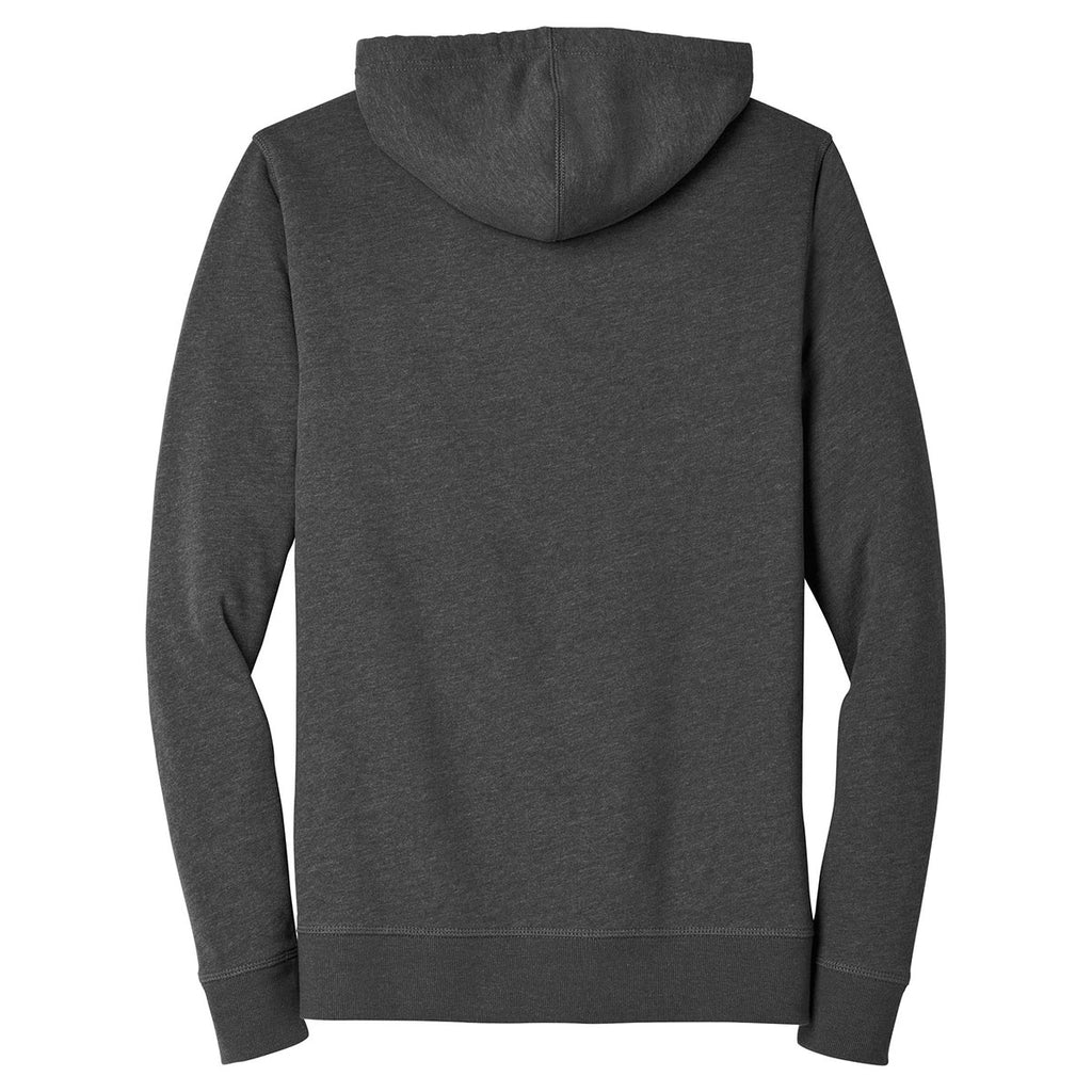 Alternative Apparel Men's Heather Deep Charcoal Rider Blended Fleece Pullover Hoodie