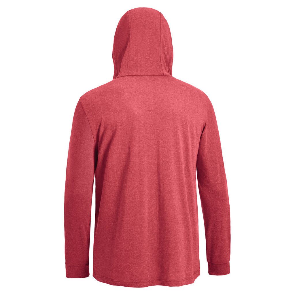 Expert Men's Dark Heather Red Soft Hoodie