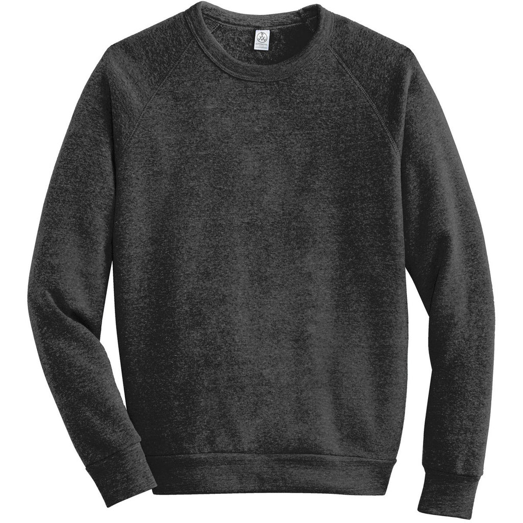 9e41d19b768c Alternative Apparel Men s Eco Black Champ Eco-Fleece Sweatshirt. ADD YOUR  LOGO