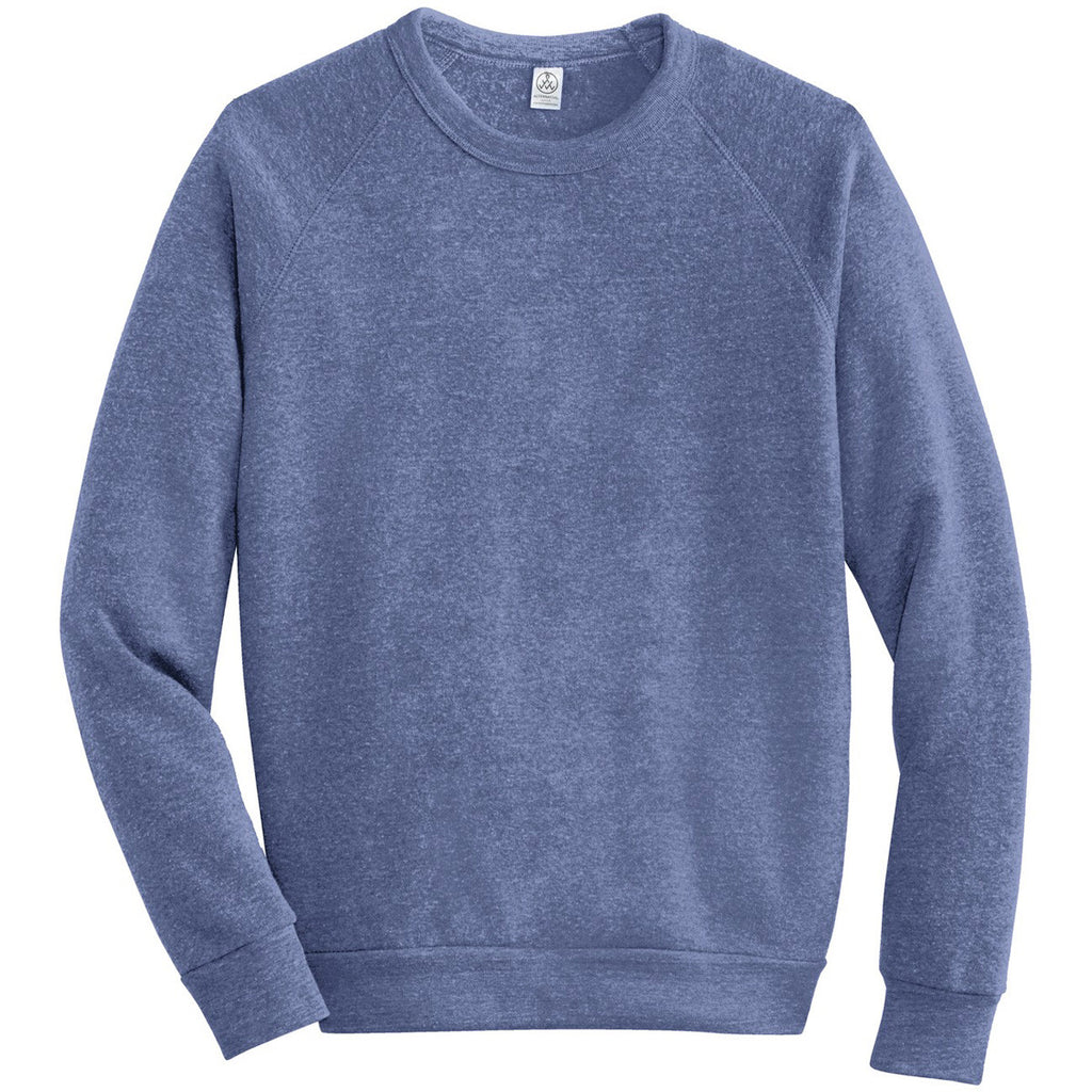 394e49f04212 Alternative Apparel Men s Eco Pacific Blue Champ Eco-Fleece Sweatshirt. ADD  YOUR LOGO