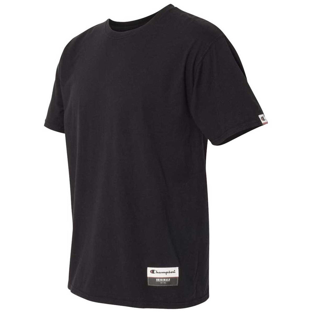 Champion Men's Black Originals Soft-Wash T-Shirt