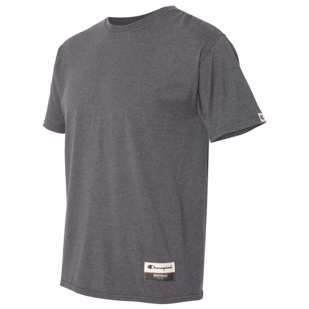 Champion Men's Charcoal Heather Originals Soft-Wash T-Shirt