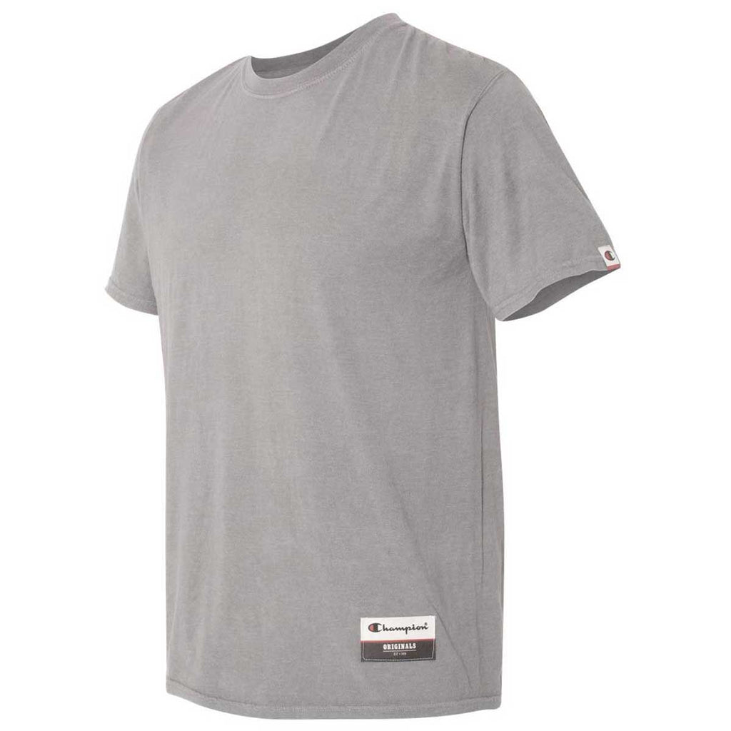 Champion Men's Oxford Grey Originals Soft-Wash T-Shirt