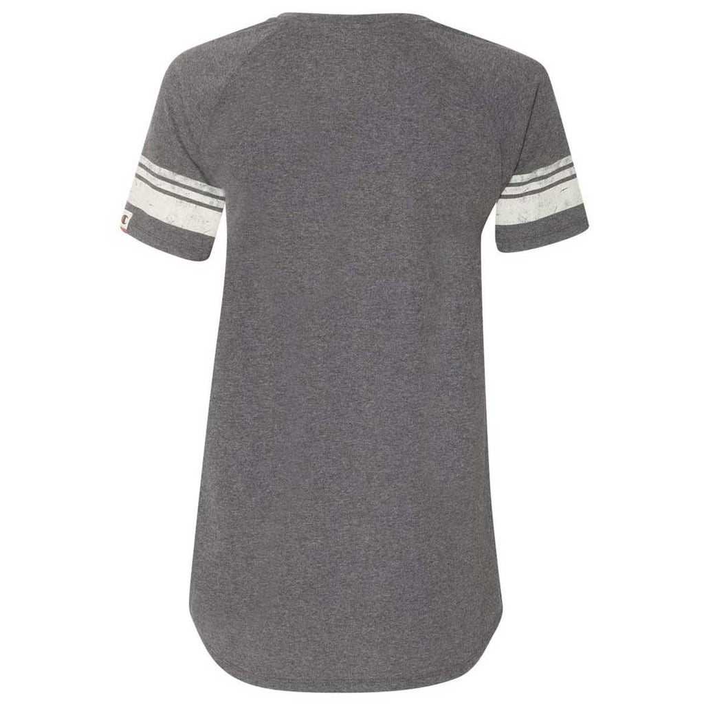 Champion Women's Oxford Grey Originals Triblend Varsity Tee