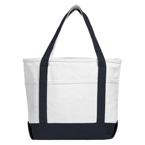 4ed3456c66 Atchison Navy Sea Breeze Canvas Boat Tote