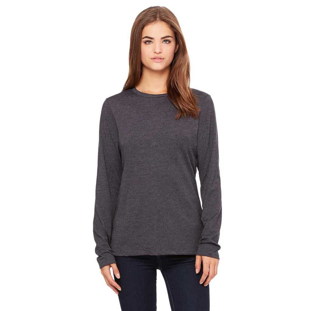 1b5f1b66553 ... Women's Dark Grey Heather Jersey Long-Sleeve T-Shirt. ADD YOUR LOGO