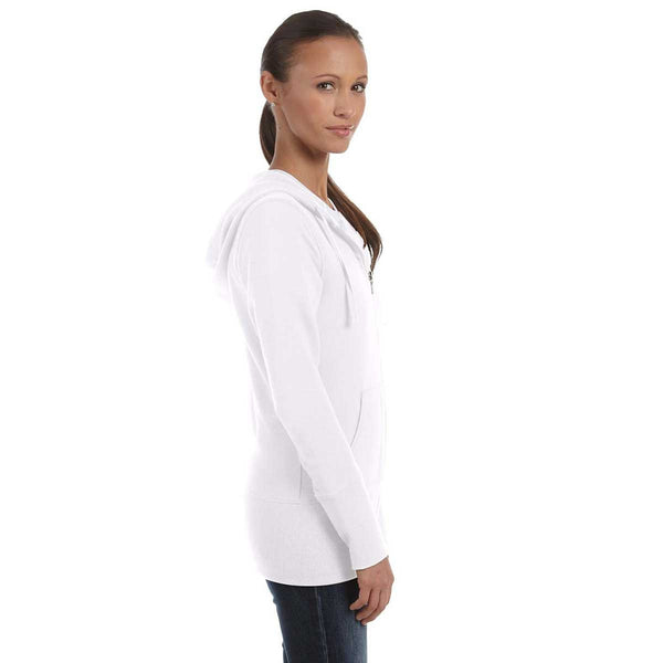 Bella Canvas Women S White Stretch French Terry Lounge