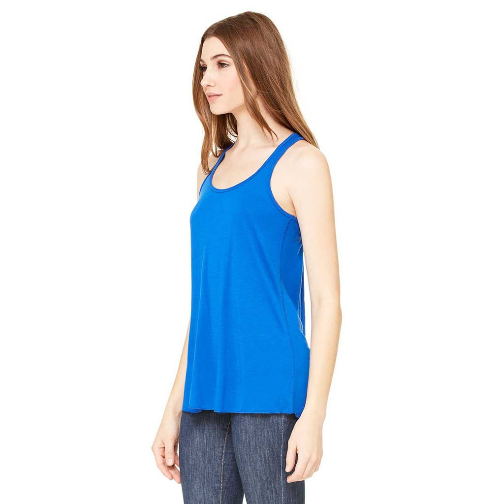 Bella + Canvas Women's True Royal Flowy Racerback Tank
