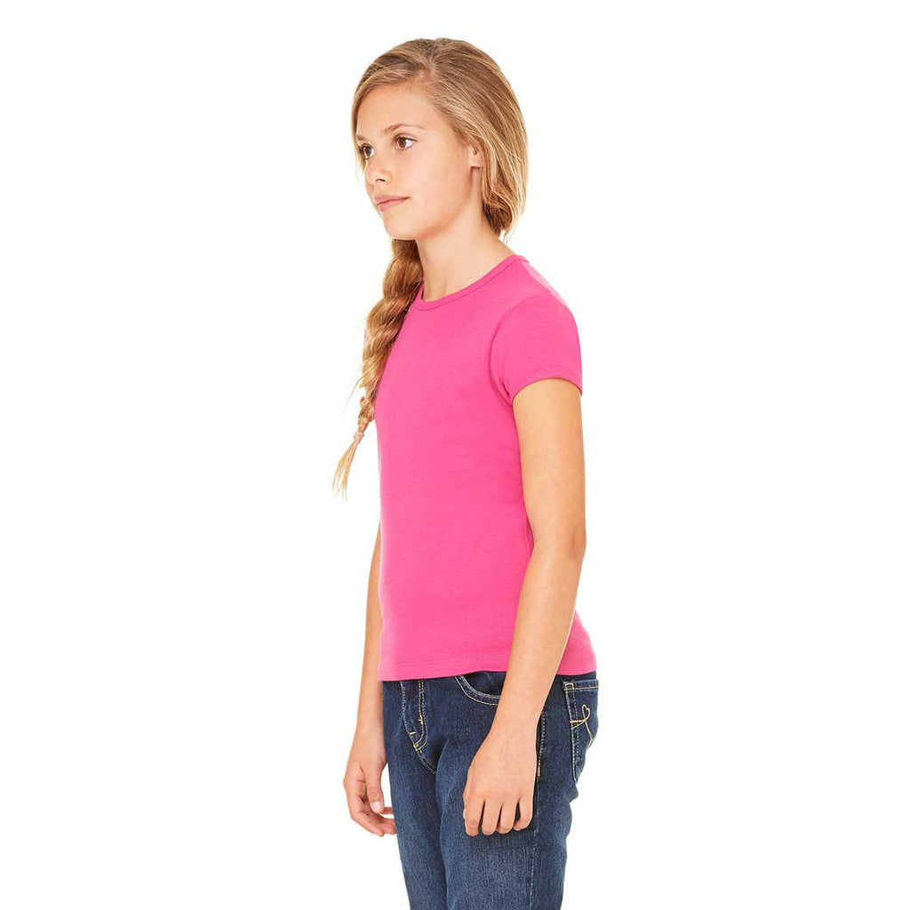 Bella + Canvas Girl's Berry Stretch Rib Short-Sleeve T-Shirt