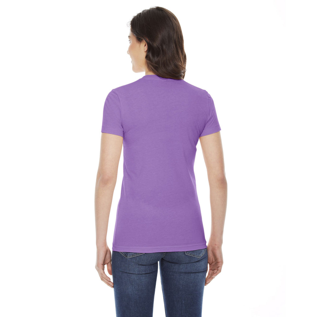American Apparel Women's Orchid Poly-Cotton Short Sleeve Crewneck T-Shirt